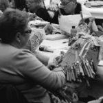 Traditional handcrafted bobbin lace, Camarillas, Galicia CADA Foundation